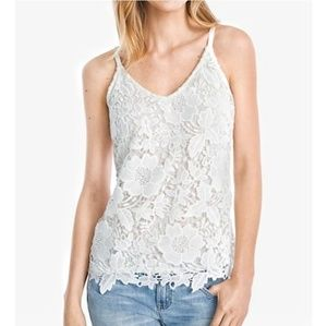 WHBM 🆕️ White Lace Camisole Lined Medium
